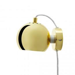 Ball brass, nástěnné svítidlo Ø12 cm,mosaz