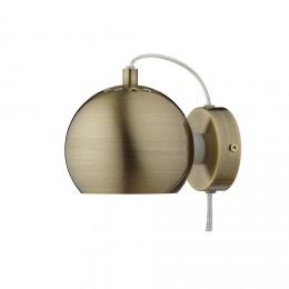 Ball antique brass matt, nástěnné svítidlo Ø12 cm,mosaz