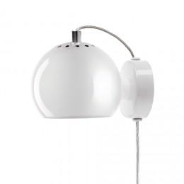 Ball white glossy, nástěnné svítidlo Ø12 cm,bílé
