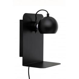 Nástěnná lampa Ball s USB, černá matt