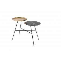 Side table Indy black/gold