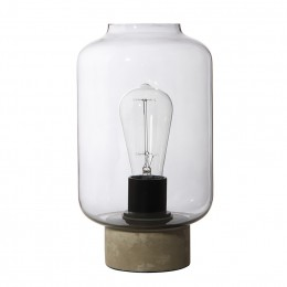 Column stolní lampa, kouřové sklo