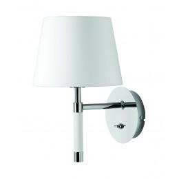 Venice Frandsen , nástěnná lampa, bílá/chrom