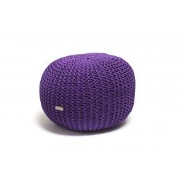 Justin Design Pletený puf malý světle fialová