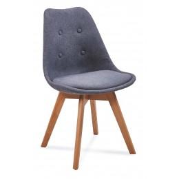 Jídelní židle  FIORD 3, světle šedá/buk